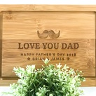 "Fathers Day Gift ""Moustache"" Personalized Serving Board, Custom Presentation Serving Board"