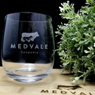 Personalised Corporate Gift - Engraved Crystal Stemless Wine Glass 11 Oz