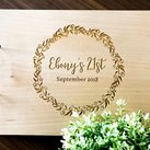 Personalised Engraved 18th or 21st Birthday Guest Book, Custom Wooden Guest Book on Rings