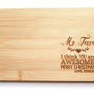 Personalised Engraved Board - Teacher Thank You or Christmas Gifts