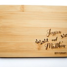 Personalised Board - Wedding Gift, Gift for Bride and Groom (Leaf design)