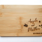 Personalised Board - Wedding Gift, Gift for Bride and Groom (Floral design)