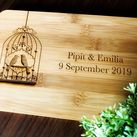 Personalised Board - Wedding Gift, Gift for Bride and Groom (Bird cage design)