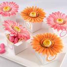 "Kate Aspen """"Daisy Delight"" Gerbera Daisy Favor Box (Bright Orange or Hot Pink) (Set of 24) """